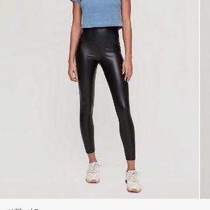 Aritzia faux leather legging